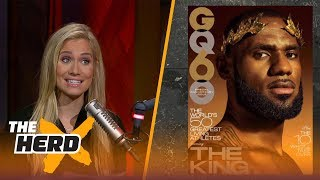 Colin Cowherd and Kristine Leahy react to GQ magazine's cover story...