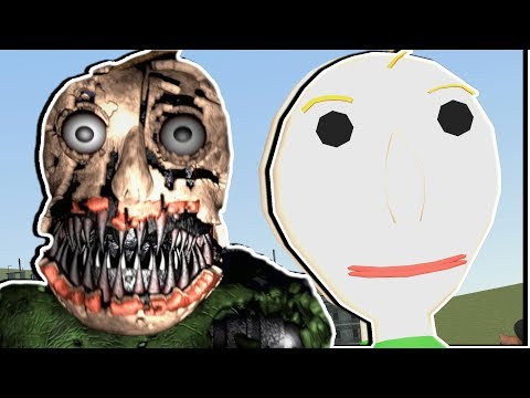 Baldi Turned Into FNAF Nightmare! Five Nights at Freddy's Gmod - Garry's Mod Gameplay thumbnail