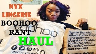 Let's HAUL! Nyx Lingerie & dark skin, BOOHOO problems? Cheap Easy Jeans!