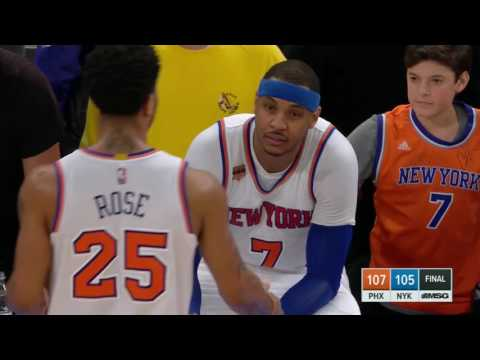 Kid attempts to comfort Carmelo Anthony after his missed game winner