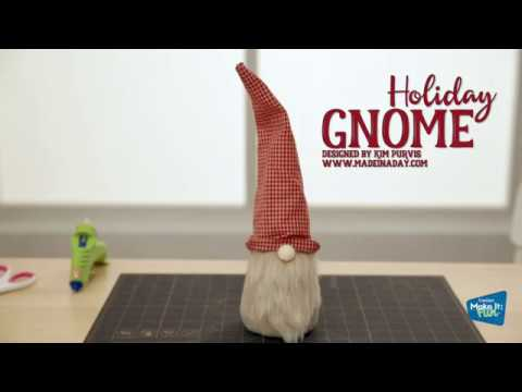 Create Easy DIY Holiday Gnomes using Foam Cones and Felt!