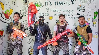 LTT Nerf War : Couple SEAL X Warriors Nerf Guns Fight Criminal Group Dr Lee Bandits Diamond