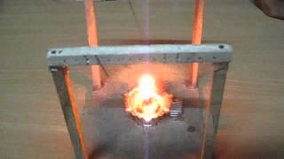 Thermo Magnetic Engine - working model