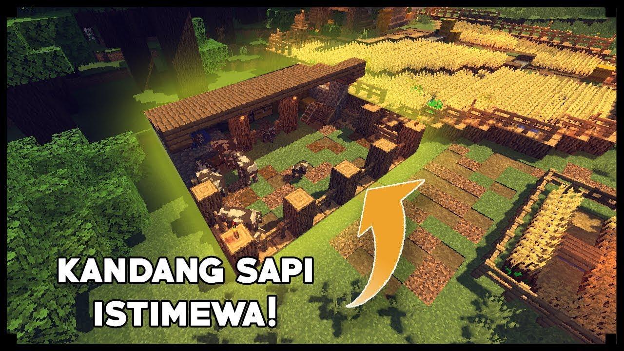 CARA MEMBUAT KANDANG SAPI - Minecraft Tutorial - YouTube