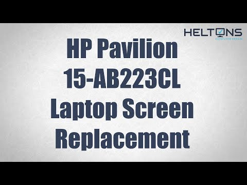 HP Pavilion 15-AB223CL - Laptop Screen Replacement Tutorial