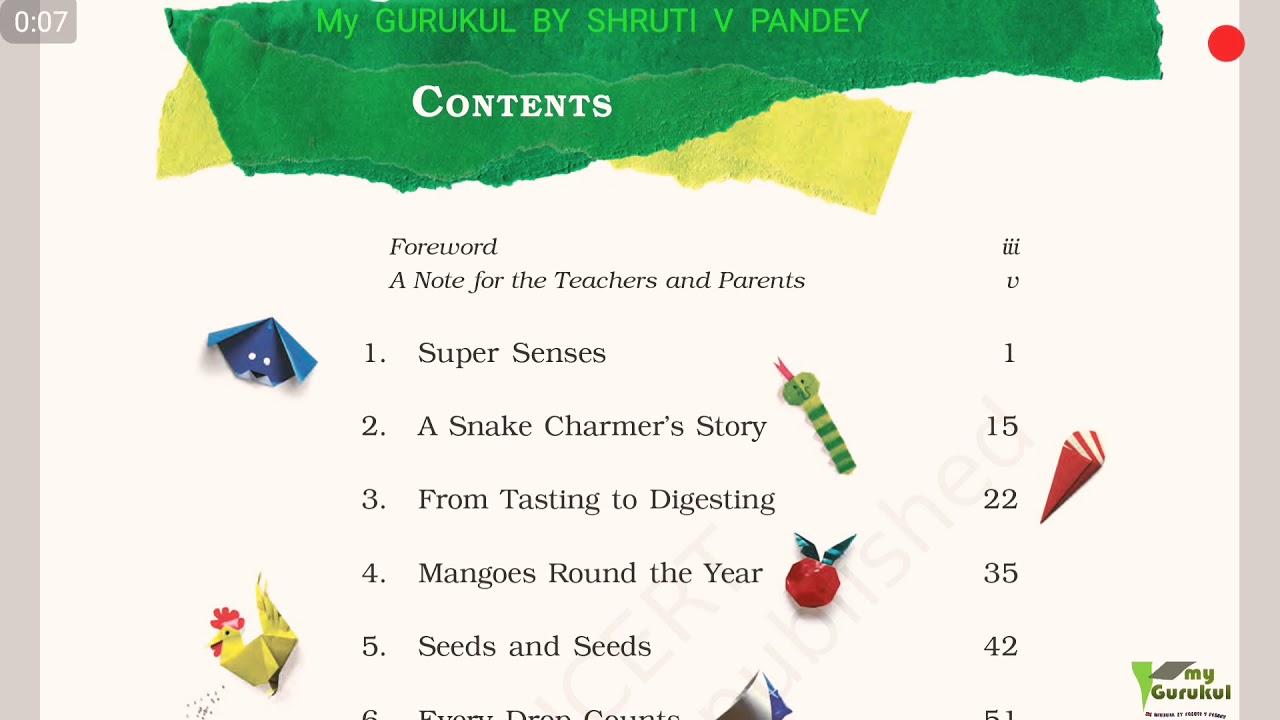 Class 5 EVS NCERT lesson 1 super senses