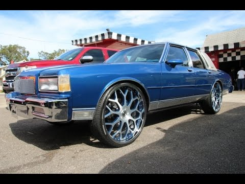WhipAddict: 88' Chevrolet Caprice Brougham LS on brushed and painted 26