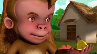 Monkeys' Justice - Moral Story | Telugu Stories for Kids | Infobells