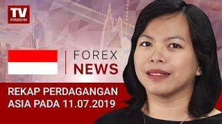InstaForex tv news: 11.07.2019: Pernyataan Powell Meningkatkan Selera Risiko, USD Menurun (USDX, JPY, AUD)