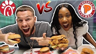 POPEYES CHICKEN SANDWICH VS CHICK-FIL-A CHICKEN SANDWICH CHALLENGE