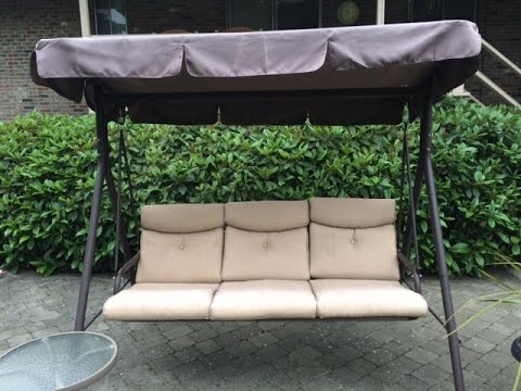 Genial Fred Meyers Patio Swing Cushions, Seat Support And Canopy Fabric Replacement