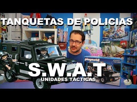 Los coches más chulos de Policía de Playmobil. Unidades Tácticas.