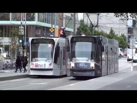 Trams at RMIT University - Melbourne Transport