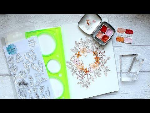 Christmas Floral Wreath Illustration | Watercolour Tutorial thumbnail