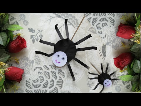 DIY Moving Spider/ Kids Activity/ Kids Craft/ Paper craft/ Insect by paper/ Paper spider/ Easy craft