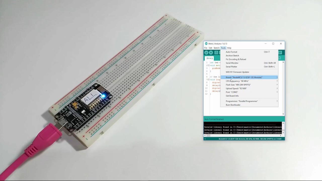 คลิปวีดีโอสอน Arduino ESP8266 โดยใช้ Arduino IDE
