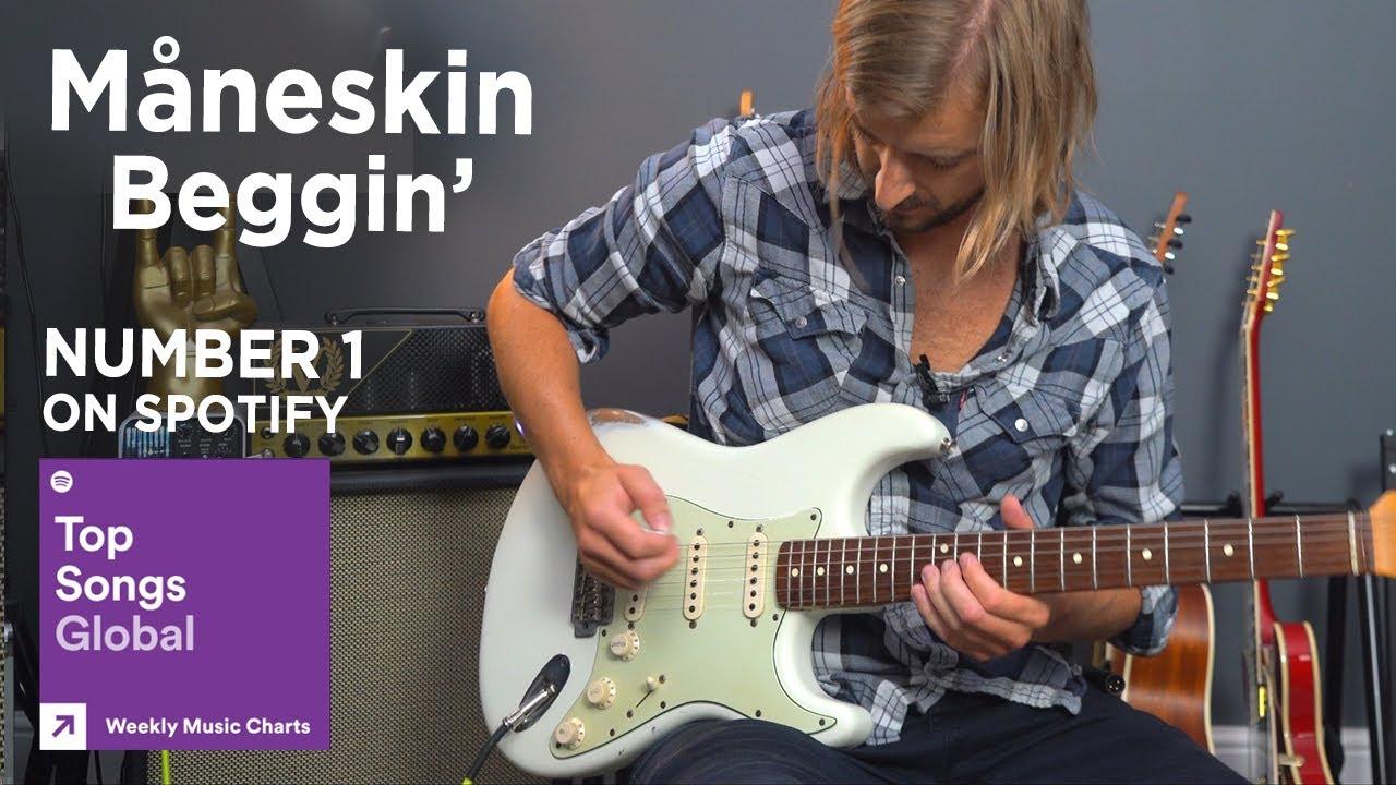 Måneskin - Beggin' Guitar Lesson Tutorial - Top Song On Spotify Global Chart!