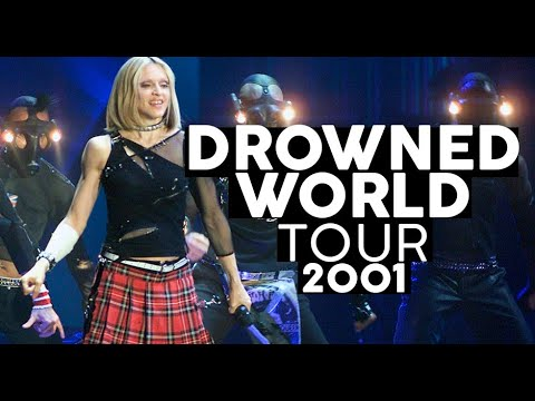 Madonna aos 40 anos espiritual e voando no palco  DROWNED WORLD TOUR  Shows da Madonna