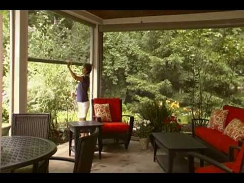 Drop shade patio shades retractable solar screens las v for Retractable deck screens