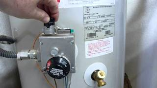 Water heater shutdown, relight, and maintenance