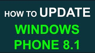 Update your phone to Windows Phone 8.1 (Lumia ICON Verizon 520 620 720 820 920 1020 1520)