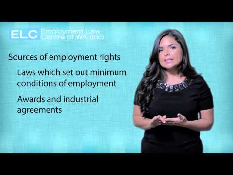 Employment Law in WA: 4. Sources of employment rights
