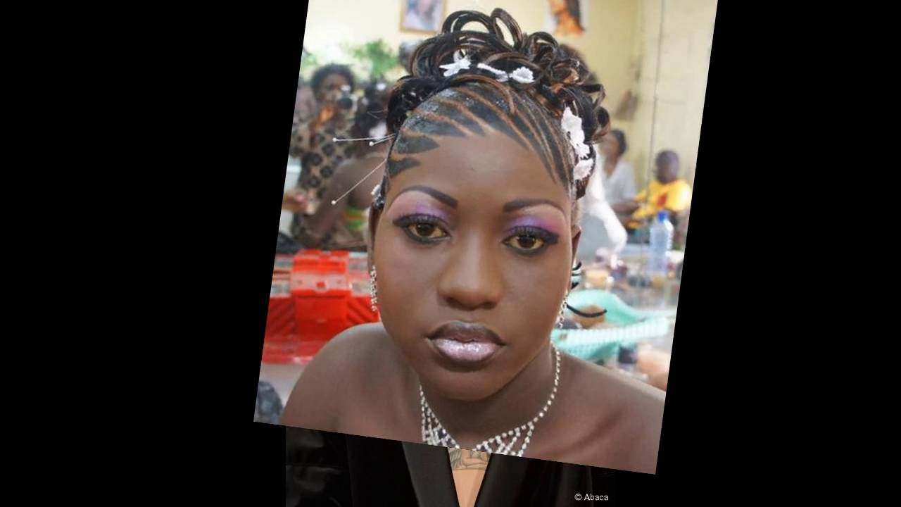 Coiffure Femme Africaine Chignon Youtube