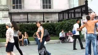 Free Hugs In Trafalgar Square, London - Extended
