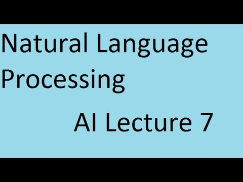 Natural Language Processing # Artificial Intelligence Online Course Lecture 7
