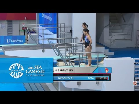 Aquatics Diving Women's 3m Synchronised Springboard Finals (Day 3) |28th SEA Games Singapore 2015