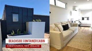 Gambar cover Beachside Tiny Container Airbnb in Christchurch, New Zealand