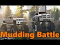 Spin Tires | MEGA MUD TRUCKS! Chevy vs Dodge Mudding