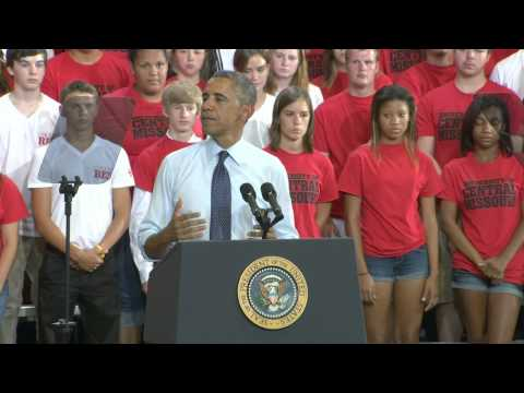 President Obama At UCM: The Warrensburg Speech