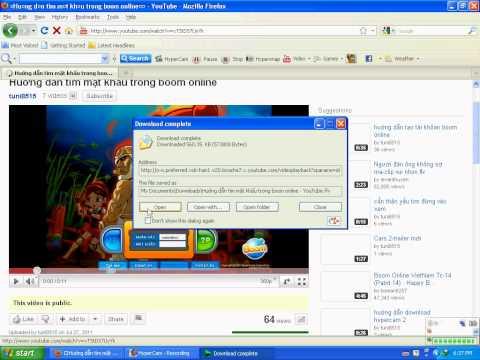 Huớng dẫn download viedo từ youtube về máy (cách 2)
