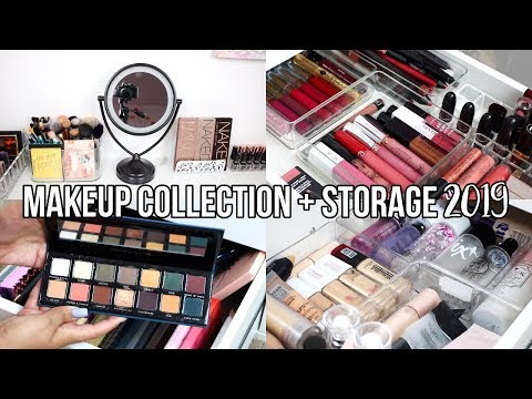 MY MAKEUP COLLECTION | STORAGE  & ORGANIZATION 2019 ✨💄 | Jackie Ann thumbnail