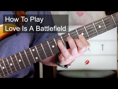 'Love Is A Battlefield' Pat Benatar Guitar Lesson