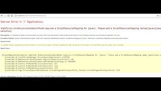 How to Solve UnobtrusiveValidationMode Error easy steps in Asp.net ?