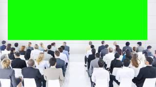 Conference Room or meeting with Green Screen HD
