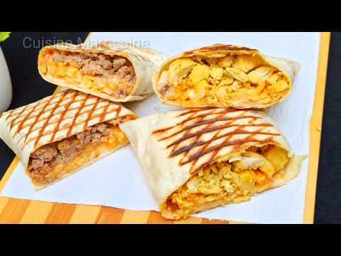 recette-pain-tortilla-tacos-avec-pâte-liquide‼️-sans-levure-sans-pétrir-👌plus-garnitures+-frites-😉🔝