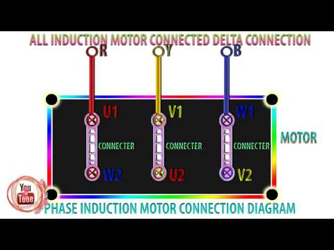 how to connect 3 phase induction motor, how to connect delta connection induction motor