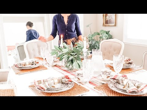 The Art Of The Fall Table Setting   Homemaking Day In The Life   Thanksgiving Table Decor