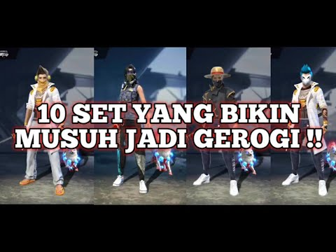 10 SET FF TERBARU YANG SERING DI PAKAI TOP GLOBAL!! FREE FIR