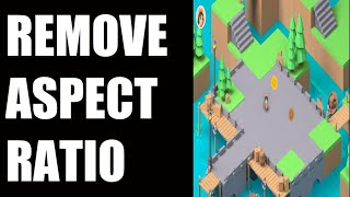 ACTIVATE FULLSCREEN (without html5 aspect ratio in gdevelop )