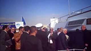 وفد من رجال الاعمال البريطانيين فى زيارة لقناة السويس الجديدة يناير2015