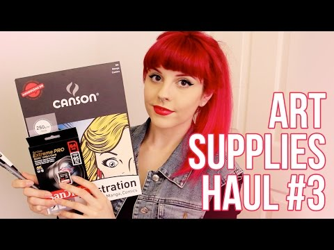 Art Supplies Haul #3 (+ Camera Supplies)