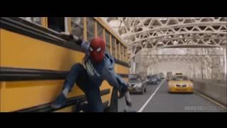 avengers infinity war spiderman leaked bus scene