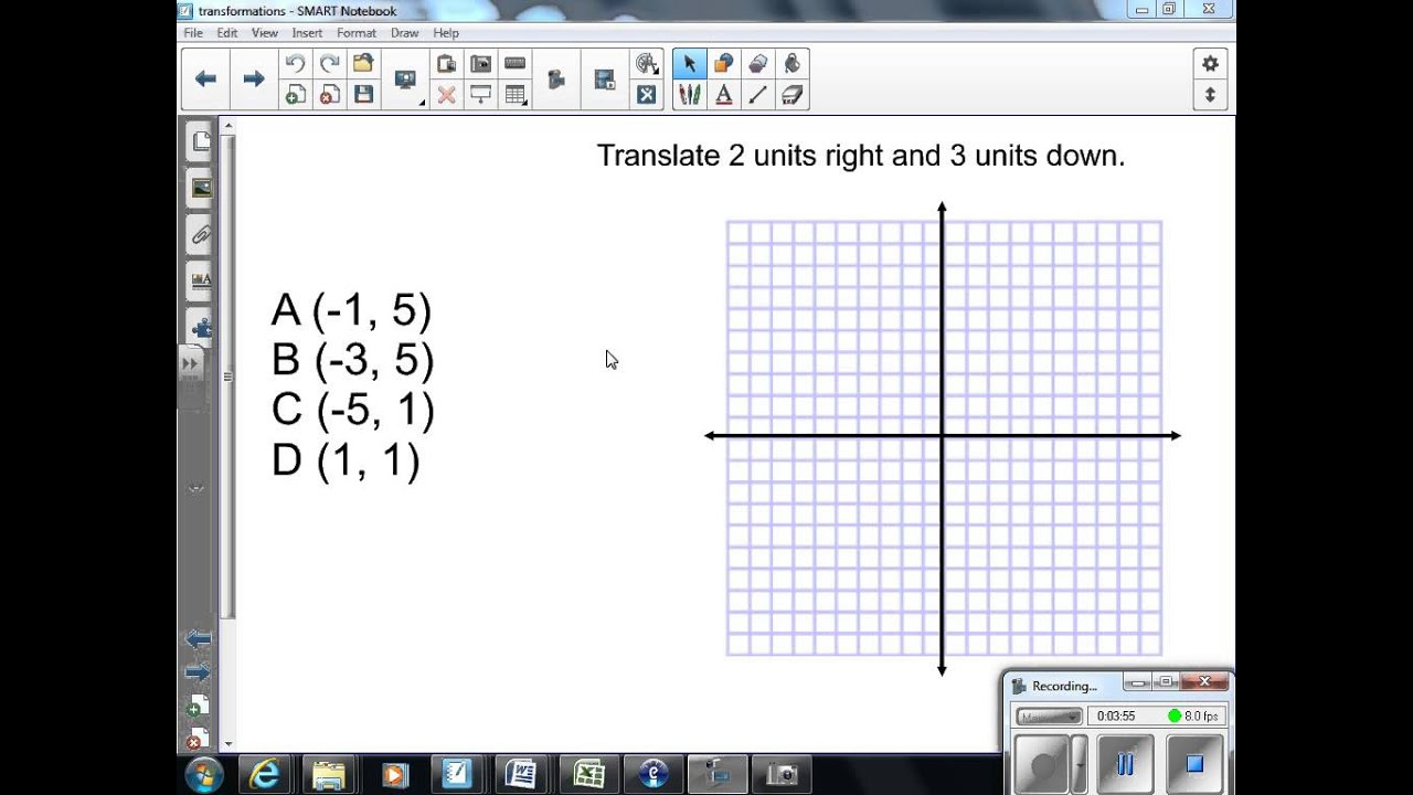 worksheet Translations Math Worksheets translations 8th grade math youtube math