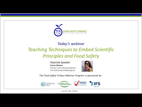 Teaching Techniques to Embed Scientific Principles and Food Safety