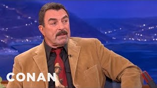 "Tom Selleck Can't Stand ""Uggie"" The Dog - CONAN on TBS"