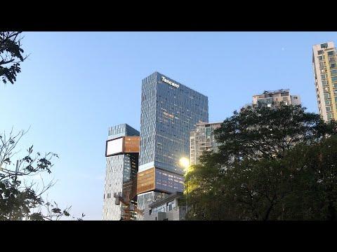 Шэньчжэнь поездка на велосипеде до Tencent Binhai Mansion или Tencent Seafront Towers в Наньшане